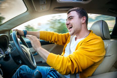 Concept Photo Of Unsafe And Dangerous Car Driving Royalty Free Stock Image