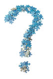 Concept photo of a question mark puzzle. Stock Image