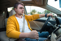 Concept photo of unsafe and dangerous car driving Stock Photography