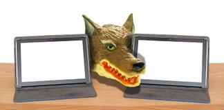 Online internet fraudster computer hack hacking malware trojan ransomware scam hijack royalty free stock photos