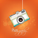 Concept of photographic camera. Royalty Free Stock Image