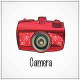 Concept of photographic camera. Royalty Free Stock Photos