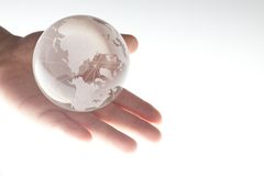 World in hand Royalty Free Stock Photos