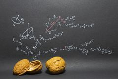 Phrase Physics in a nutshell Stock Image