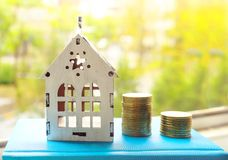 Concept picture on money, credit for new housing royalty free stock photography