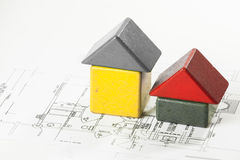 Concept picture of  a new house. Concept picture of building a new house Stock Image