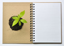 Concept picture of recycle notebook Stock Image