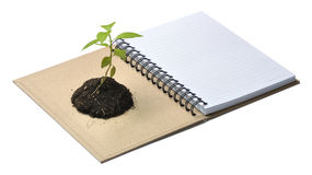 Concept picture of recycle notebook Stock Photo