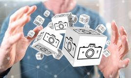 Concept of pictures sharing Royalty Free Stock Images