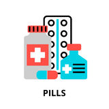 Concept of pills icon Stock Photography