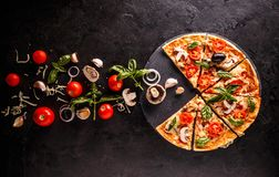 Concept of pizza stock images