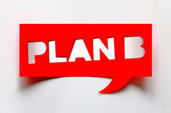 Concept of plan B Royalty Free Stock Images