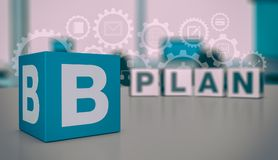 Concept of plan b Royalty Free Stock Image