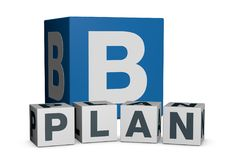 Concept of plan b Royalty Free Stock Photography