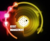 Asset Management concept plan graphic. Concept plan graphic background color advice Royalty Free Stock Image
