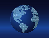 Concept of the planet earth with bright spots. World globe on blue. geometric design Stock Photography