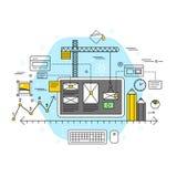 Concept plat d'application mobile Image libre de droits