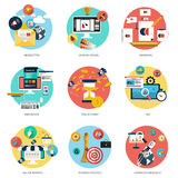 Concept plat d'icônes illustration libre de droits