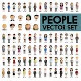 Concept plat d'icônes de conception de personnes de la Communauté de diversité illustration de vecteur