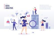 Concept plat d'illustration d'analyse de données illustration de vecteur