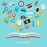 Concept plat d'illustration de conception de la connaissance Image libre de droits