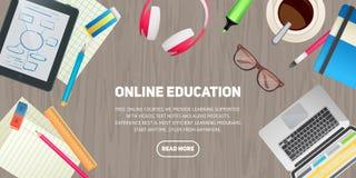 Concept plat d'illustration de conception pour l'éducation Photo stock