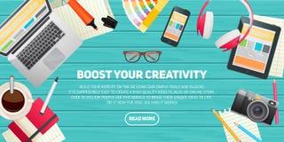 Concept plat d'illustration de conception pour l'éducation Photos stock