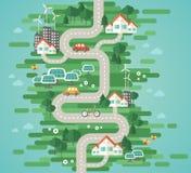 Concept plat d'illustration de vecteur de conception de l'écologie illustration de vecteur