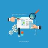 Concept plat d'illustration de vecteur pour le web design Photo libre de droits