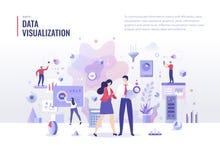 Concept plat d'illustration de visualisation de données
