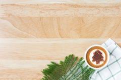 Concept plat de café de configuration Image libre de droits