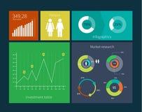 Concept plat de calibre d'interface de conception avec illustration stock