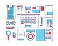 Concept plat de collection de vecteur d'icône de conception moderne Image libre de droits