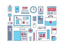 Concept plat de collection de vecteur d'icône de conception moderne Photo stock