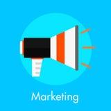 Concept plat de commercialisation d'illustration Images stock