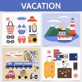 Concept plat de place de vacances d'été Image libre de droits