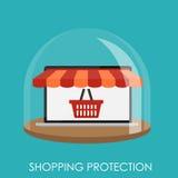 Concept plat de protection d'achats pour Apps mobile Images libres de droits