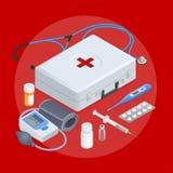 Concept plat de service de santé en ligne, soins de santé de famille, assurance médicale maladie, pharmacie, services médicaux, l illustration de vecteur