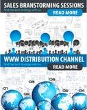 Concept plat de style pour l'organisation sociale de media, d'ordre du jour et le marketing numérique Photo stock