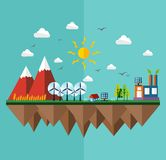 Concept plat de ville d'écologie Photos libres de droits