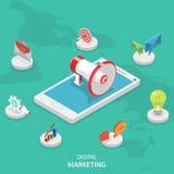 Concept plat isométrique de vecteur de vente de Digital illustration stock