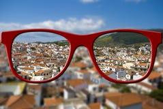 Concept pointu de vue Brouillé et affilez la vue Images stock