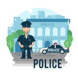 Concept policeman at work Royalty Free Stock Photography