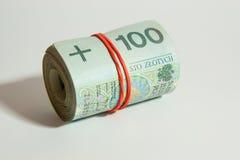 The concept of Polish money Stock Image
