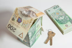 The concept of Polish money Stock Image