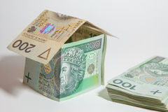 The concept of Polish money Stock Photo