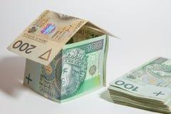 The concept of Polish money Stock Photo