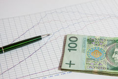 The concept of Polish money Stock Images