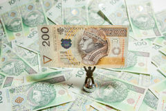 The concept of Polish money Royalty Free Stock Photo