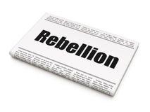 Concept politique : rébellion de titre de journal Photos stock